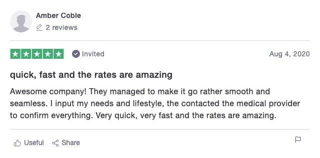 Ethos Life Insurance Customer Review 3