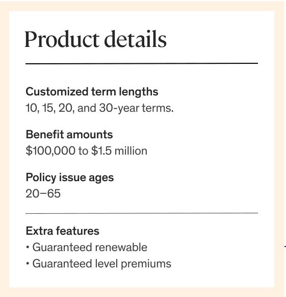 Ethos - Term Life Insurance Snapshot