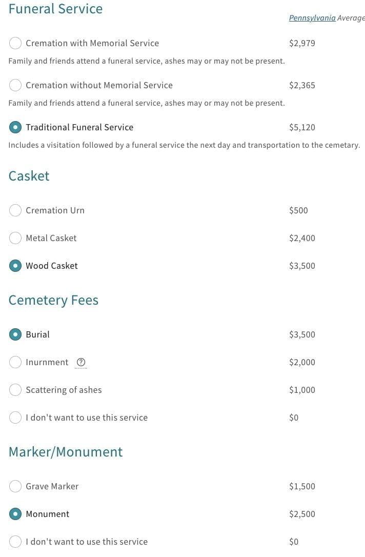 Mutual of Omaha Final Expense Estimator Tool