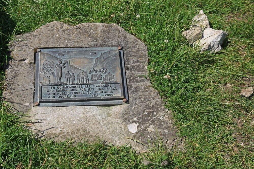 Commemoration plaque as flat grave marker
